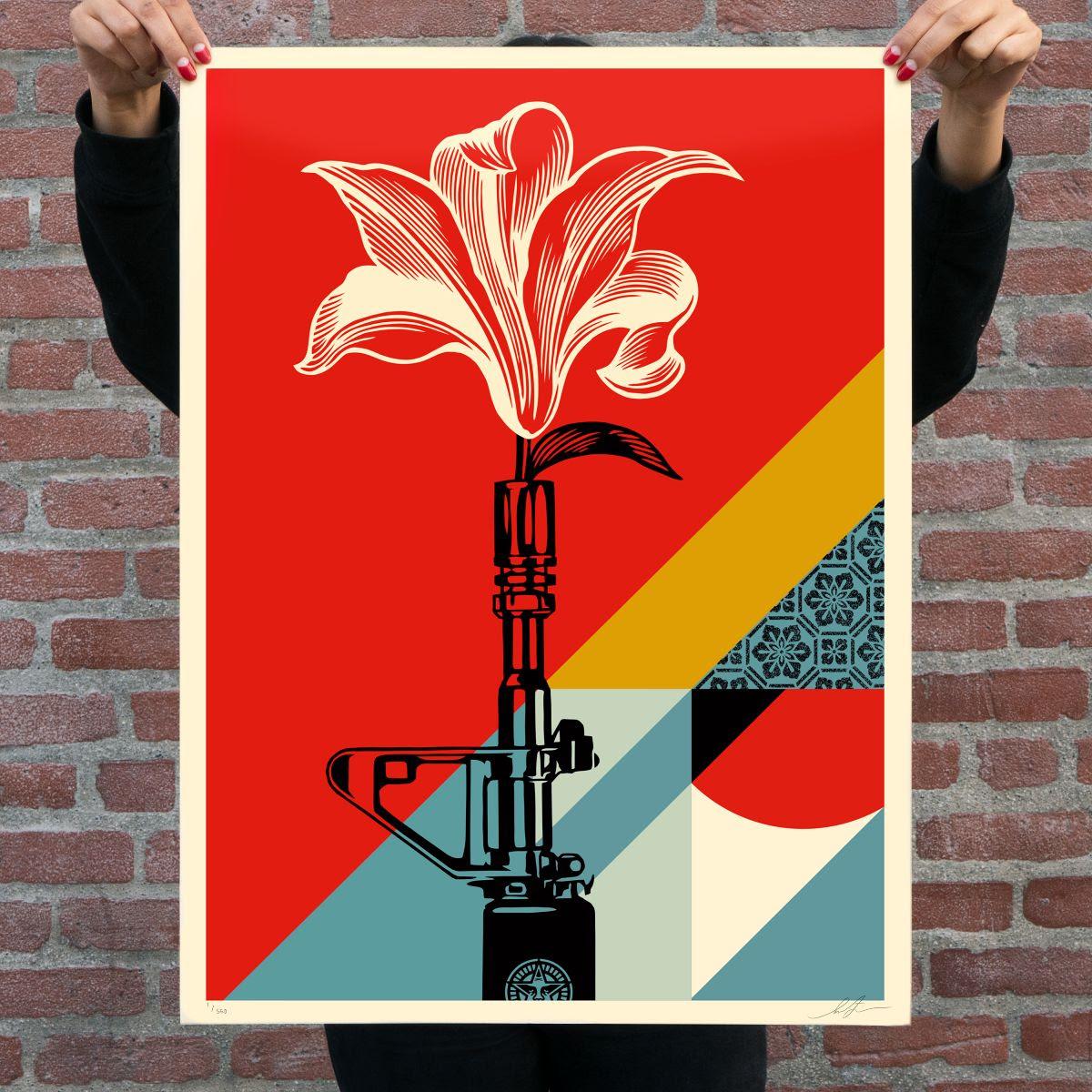 "Shepard Fairey ""AK-47 Lotus"" & ""AR-15 Lily"" Print Release – January 7th"