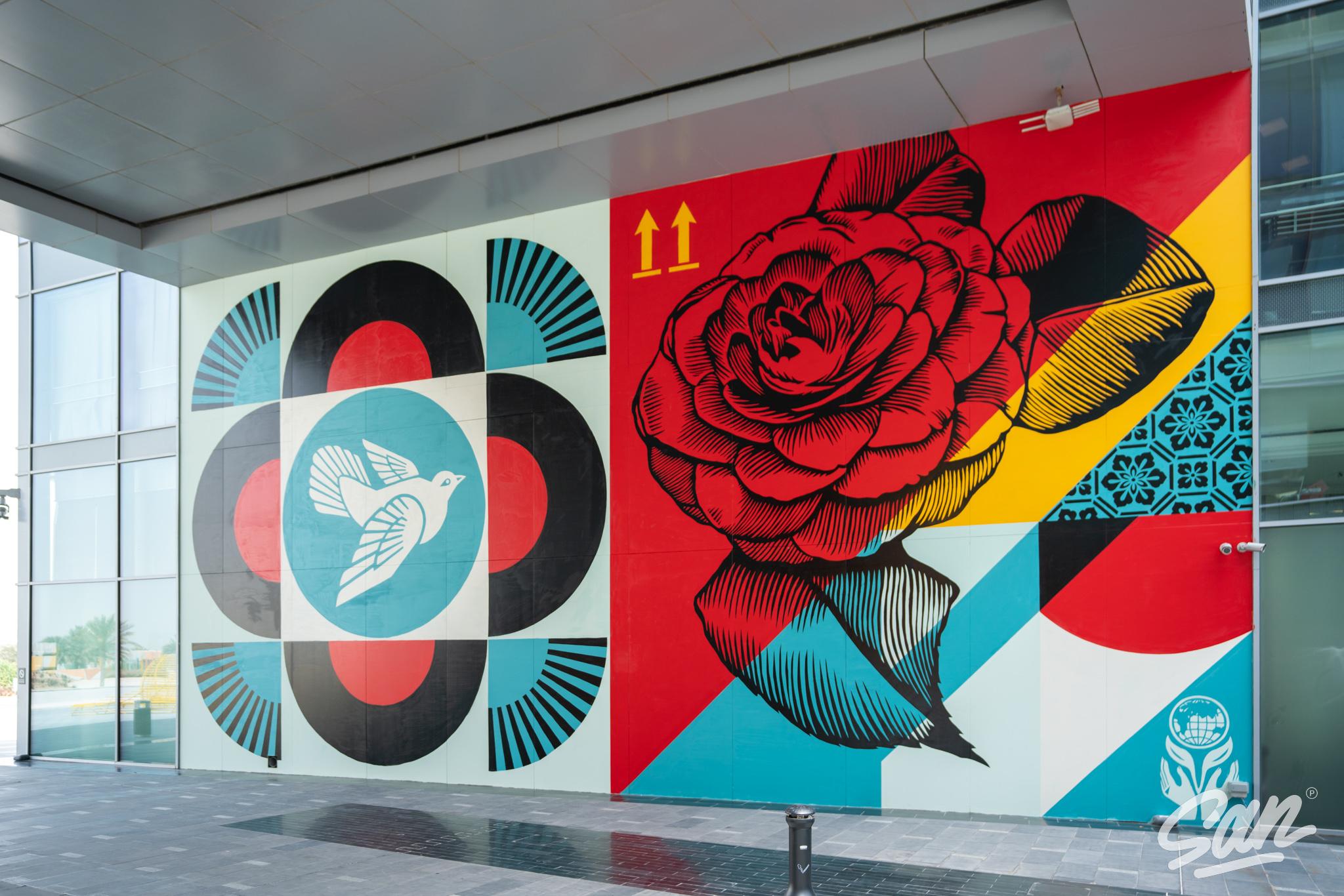 Rise Above, de Shepard Fairey no Dubai Artes & contextos Shepard Fairey Dubai March 2021 06