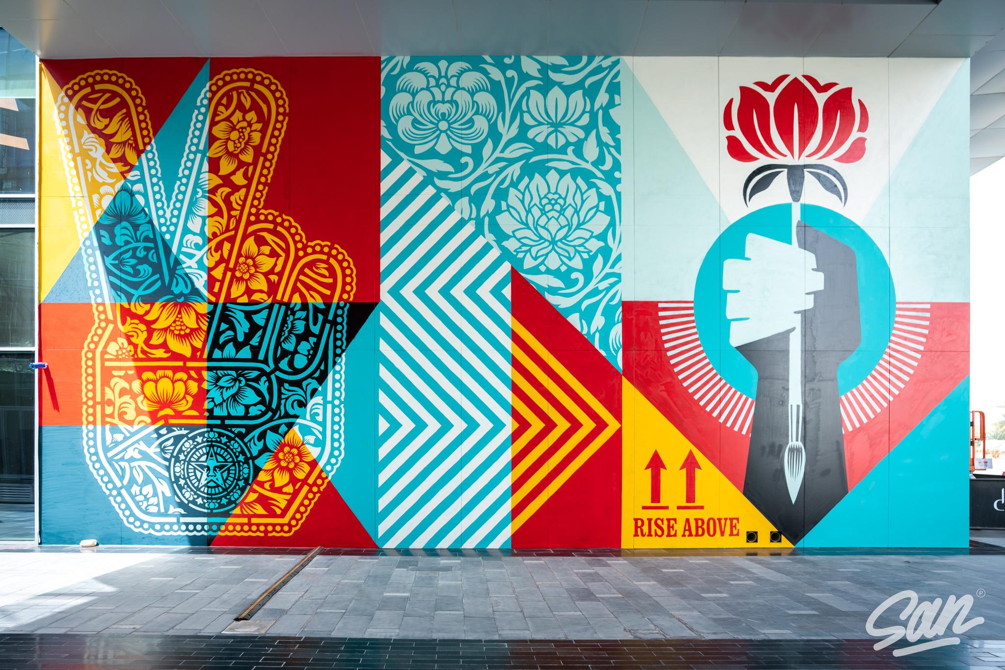 Rise Above, de Shepard Fairey no Dubai Artes & contextos Shepard Fairey Dubai March 2021 09