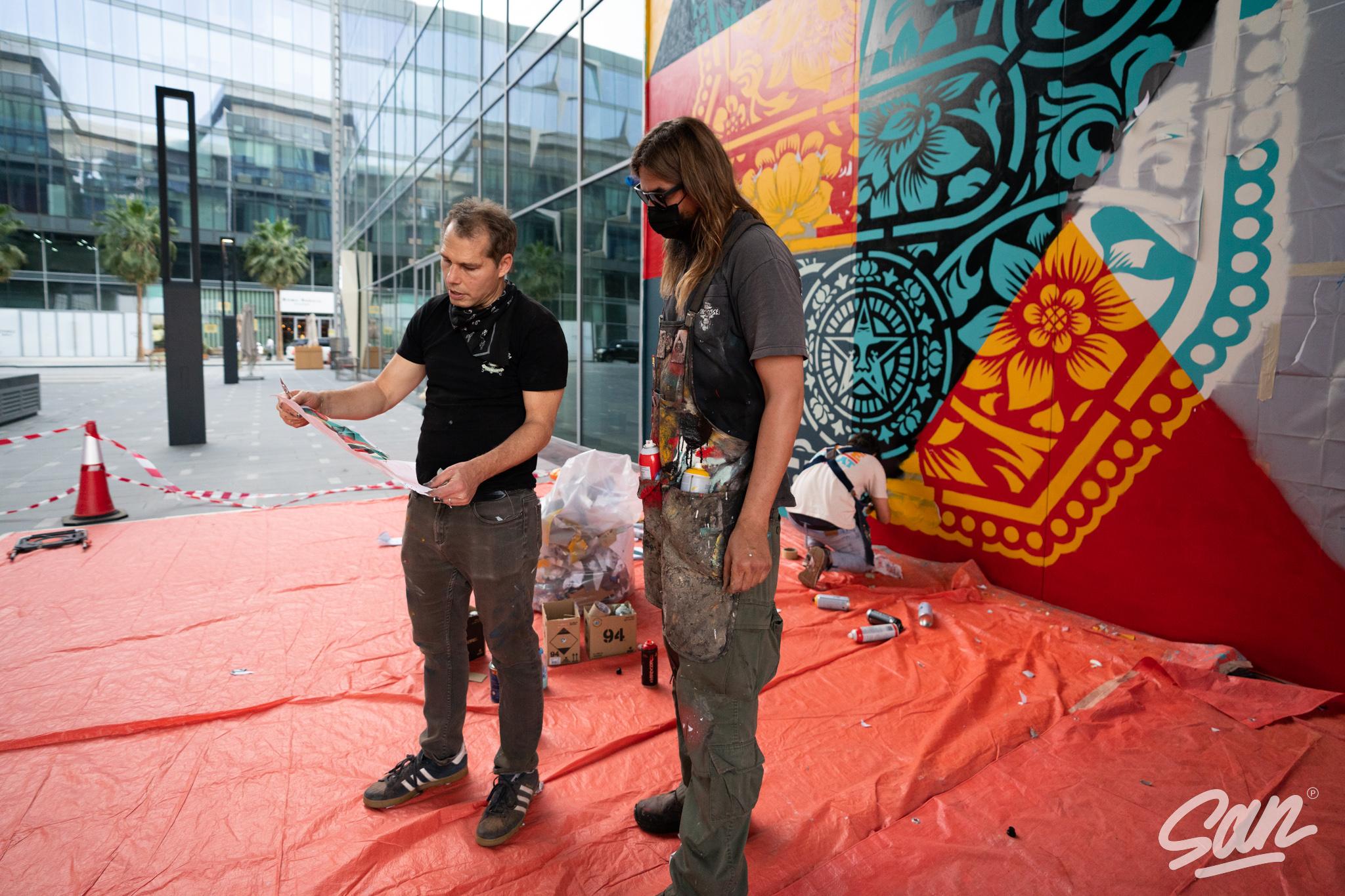 Rise Above, de Shepard Fairey no Dubai Artes & contextos Shepard Fairey Dubai March 2021 13